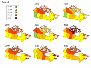 2013 Canadian Obesity Maps-Gotay
