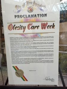 Obesity Care Proclamation LA 2015