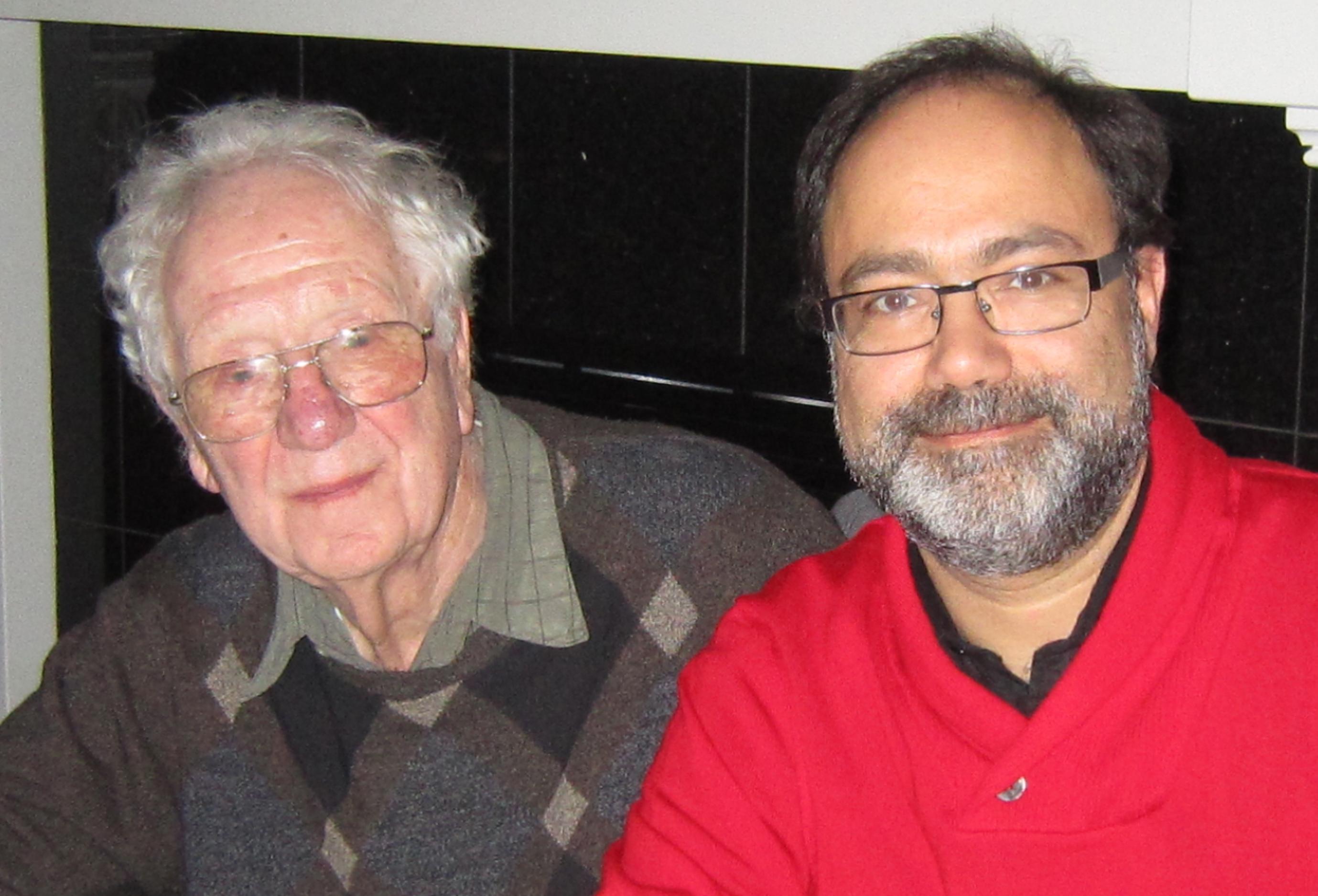 Nobel Laureate Dr. Olivers Smithies and Arya Sharma, Edmonton, Oct 2011