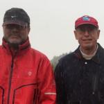 Standing in the rain with Professor Joseph Proietto, Melbourne, Australia